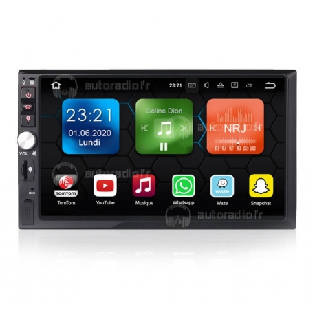Autoradio GPS Android 8.0 Universel 2 din sans DVD