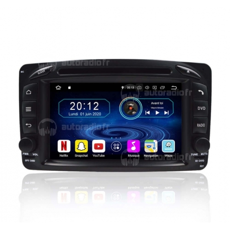 Autoradio GPS Android 8.0 Mercedes CLK C209 (1998-2004)