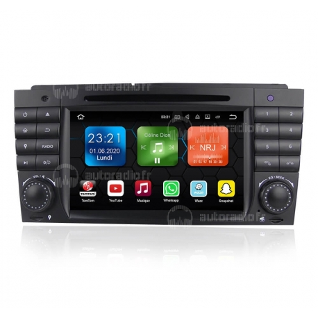 Autoradio GPS Android 8.0 Mercedes CLK Classe W209 (2005-2011)