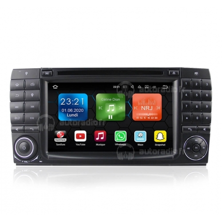 Autoradio GPS Android 8.0 Mercedes CL-Classe W215 (1998-2005)