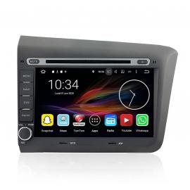 Autoradio GPS Android 7.1 Honda Civic 2012